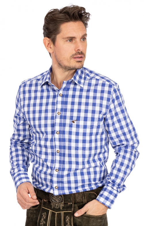 German traditional shirt AMBERG blue