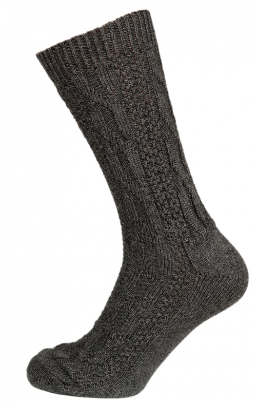 Traditional knee socks CS528 gray