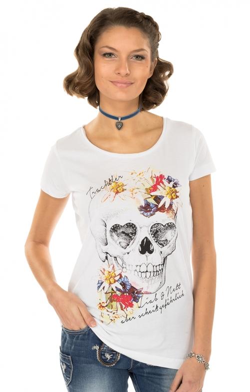 Trachten T-Shirt MERLE weiss