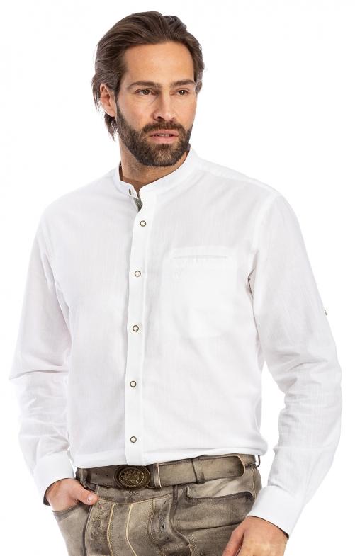 Stehkragenhemd 910761-105 weiß grün