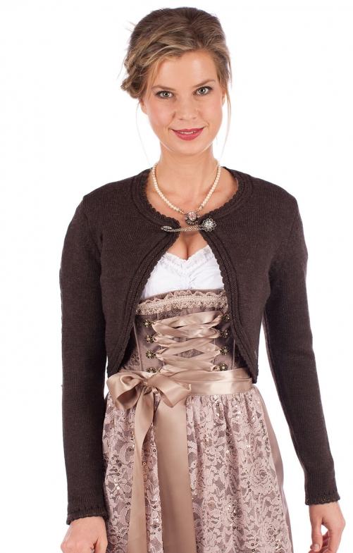Traditional Cardigan DILL dark brown