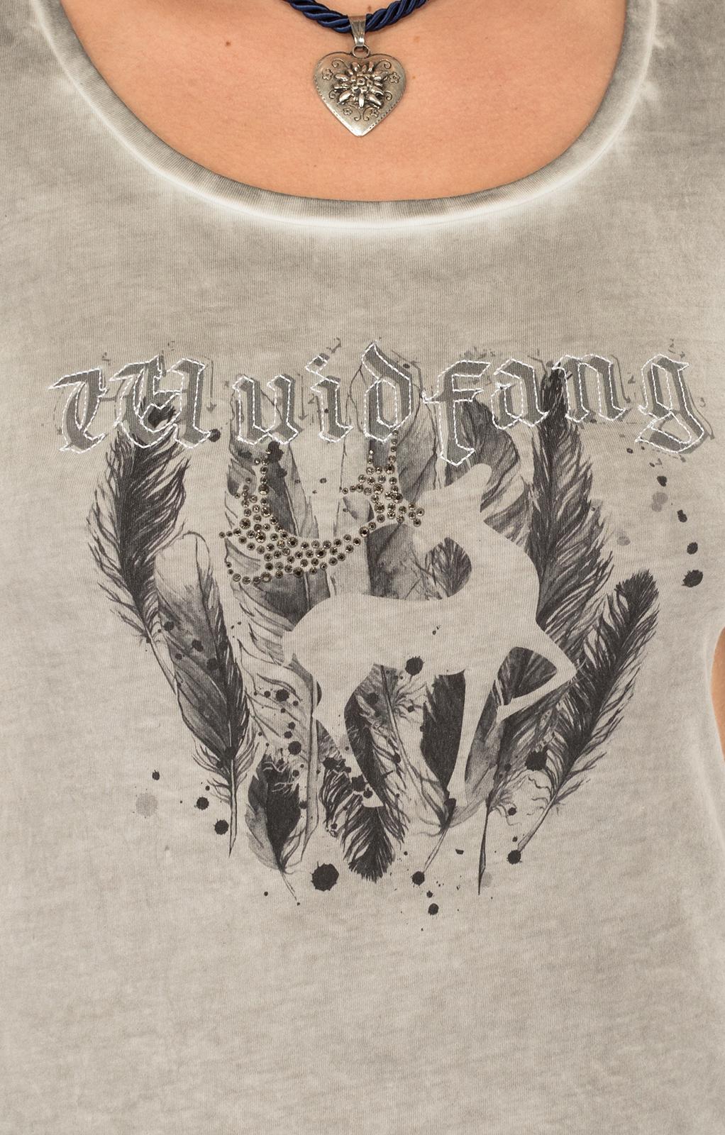 weitere Bilder von Trachten T-Shirt K02 SILBERHIRSCH silbergrau