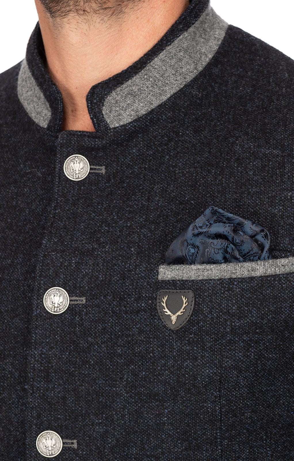 weitere Bilder von Trachtenjacke MARLON dunkelblau grau