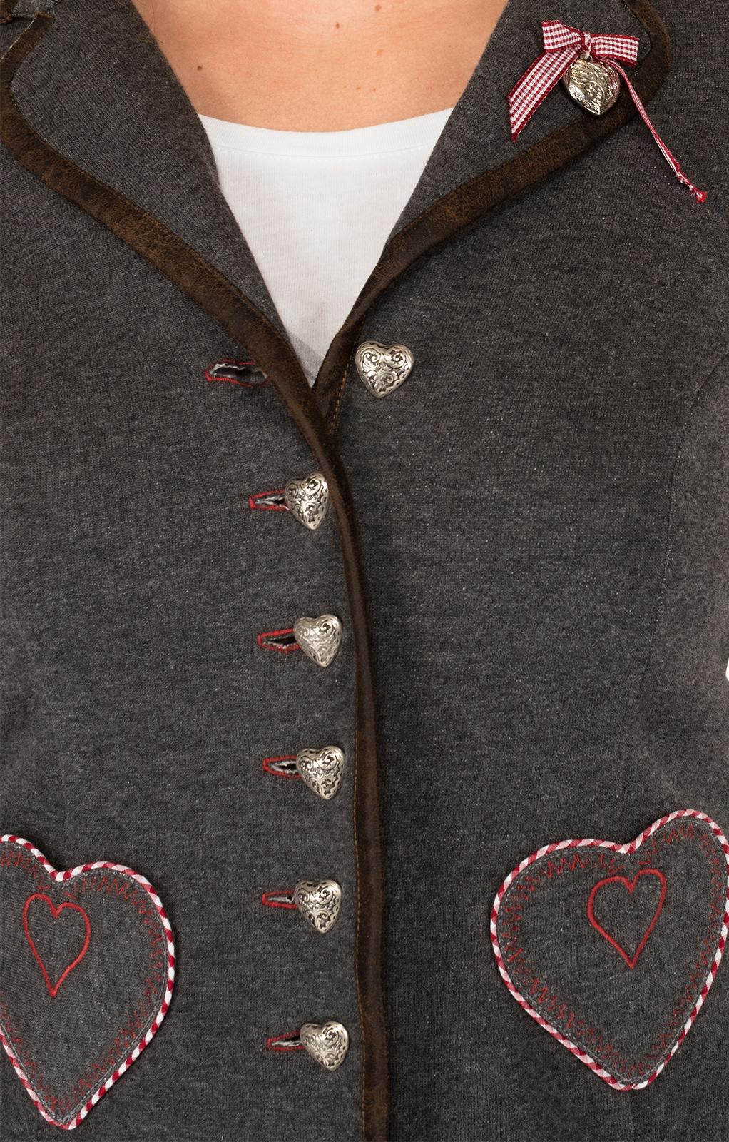 weitere Bilder von Giacca per Trachten rosso grigio