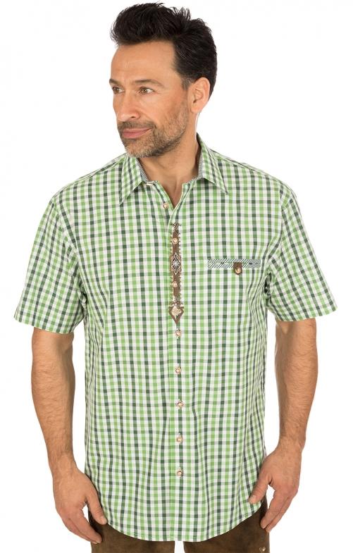 German traditional shirt short arms green