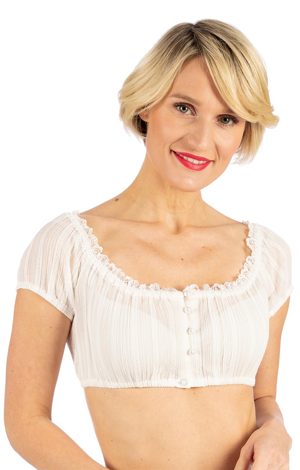 Traditional dirndl blouse TAMMY ecru von Krüger Dirndl