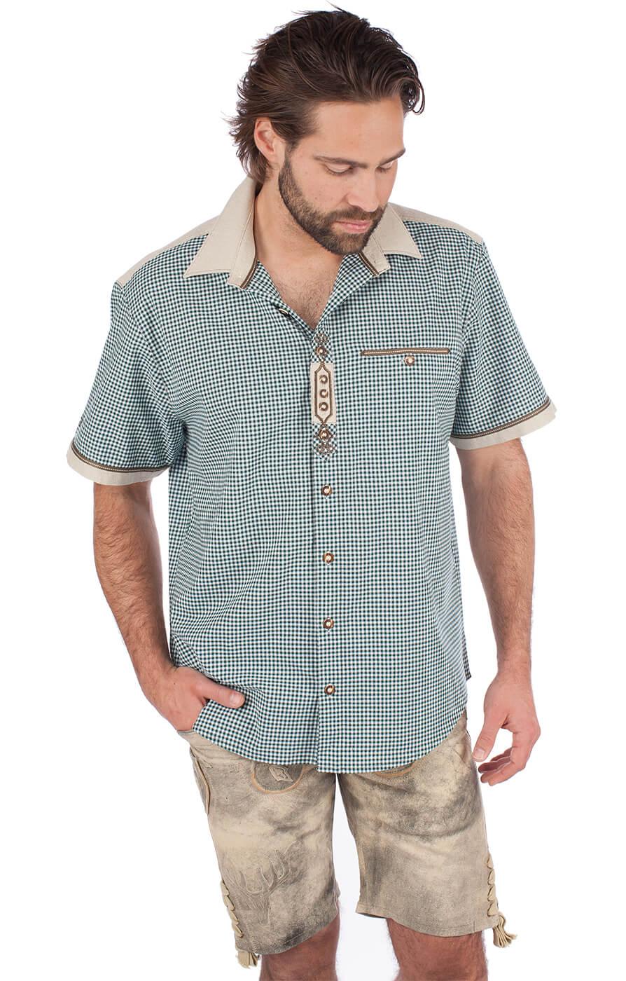 weitere Bilder von Trachtenhemd DOMINIC Halbarm grün