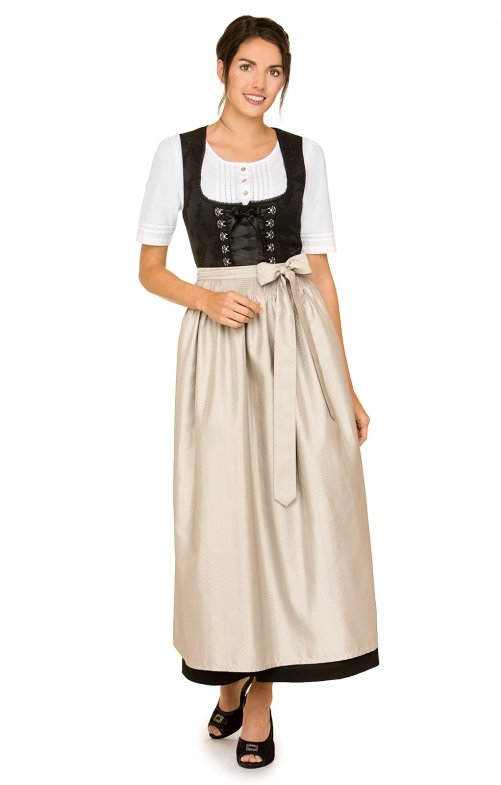 Dirndl long 1pcs. Anaida black nature 96 cm
