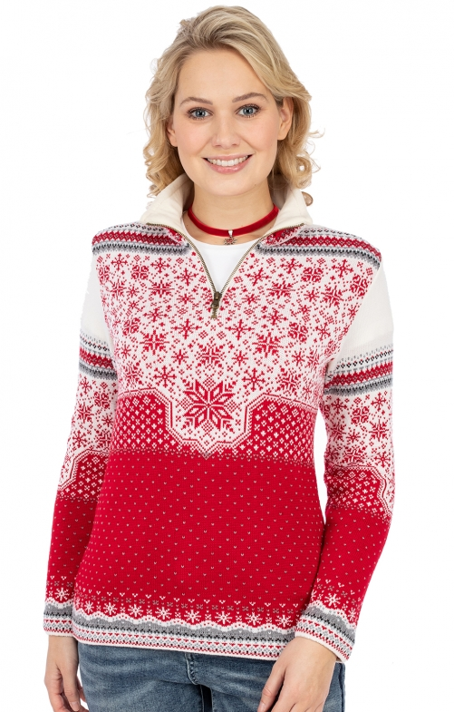 Norweger Pullover MARIA rot