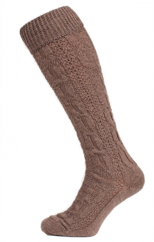 Traditional knee socks CS557 brown