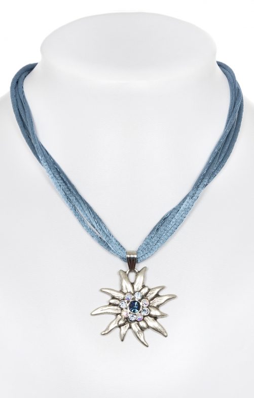 Trachten necklace with Edelweiss 9196-4 jeans