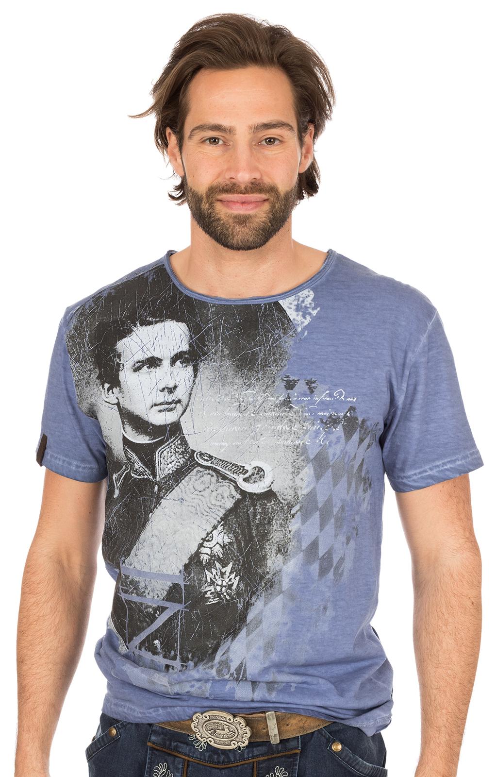 Trachten T-Shirt M30 WIGGERL blau von Marjo