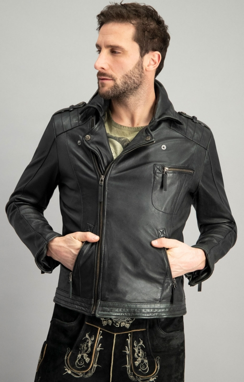 Trachtenlederjacke BRONSON blackwashed