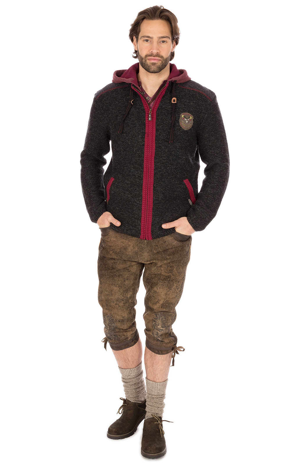 weitere Bilder von Traditional german cardigan black red