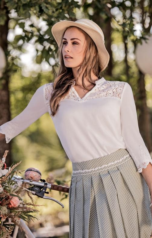 Tiroler blouses halve mouwen LAVINJA-MAYARA offwhite