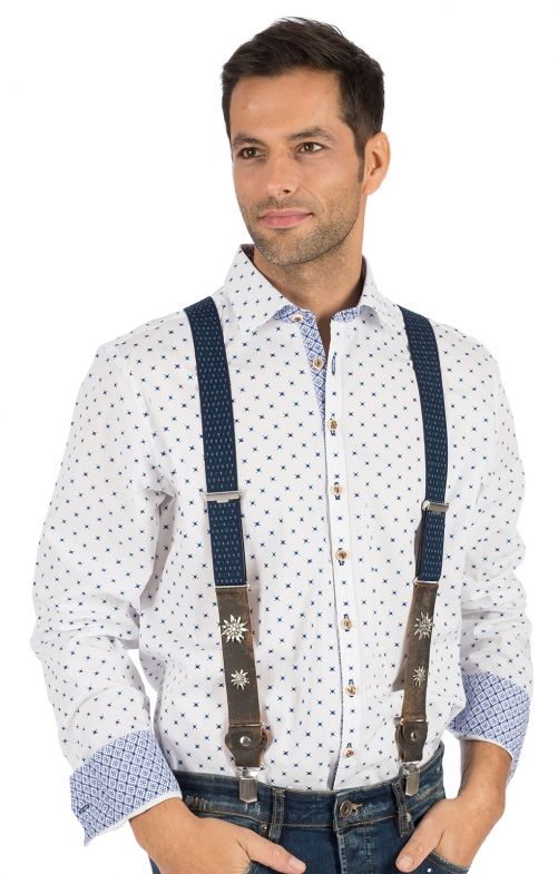 Traditional suspenders HT906-4 blue