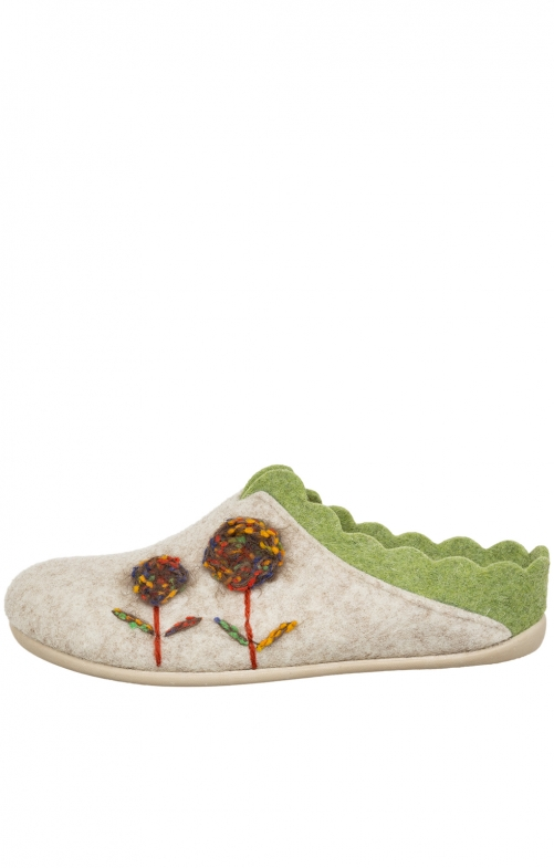 Traditional Slipper NELLY nature apple