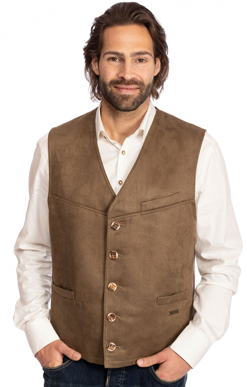 Traditional waistcoat STAUFEN taupe