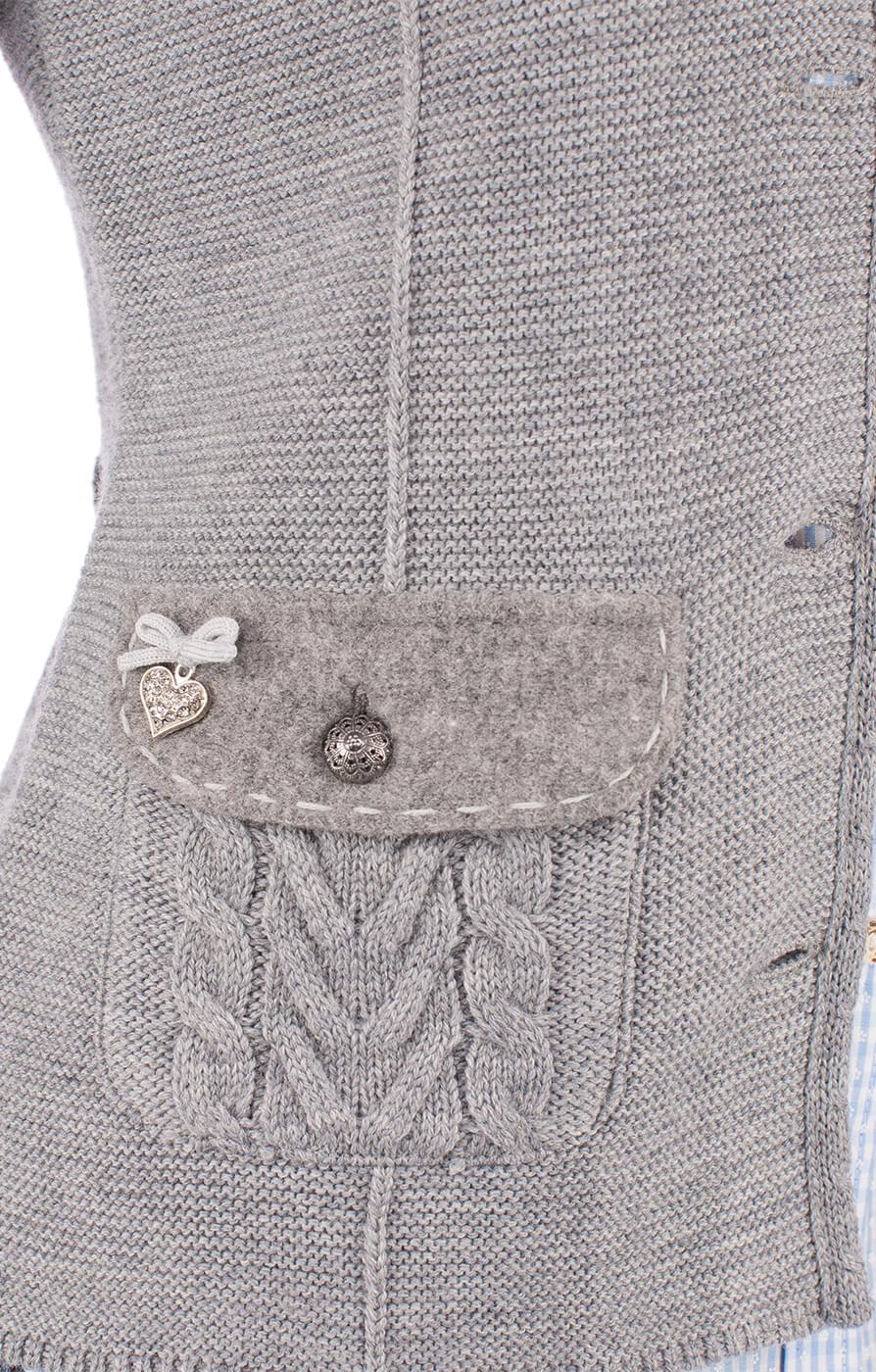 weitere Bilder von Giacca in maglia per Dirndl ETTAL grigio