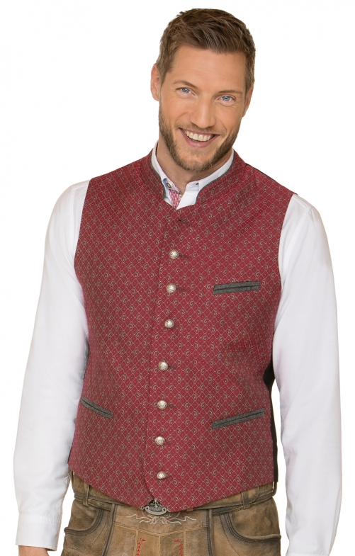 Traditional waistcoat Rico red