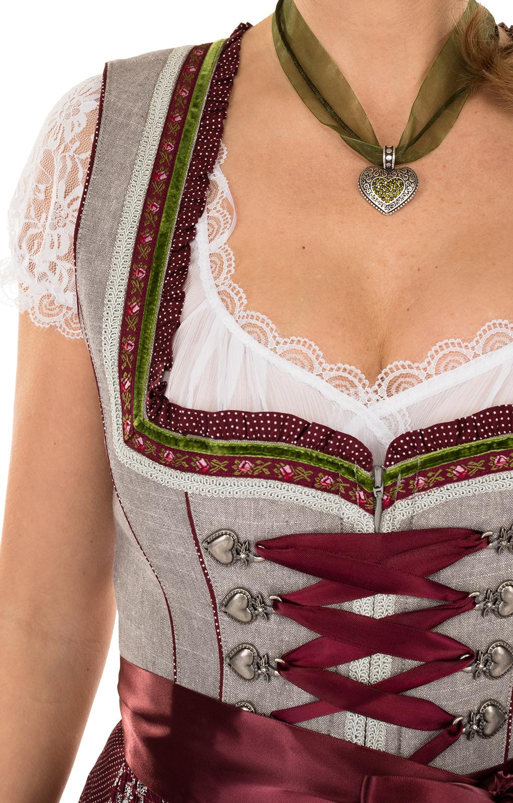 weitere Bilder von Mididirndl 2pcs. 60 cm 45046-90 red