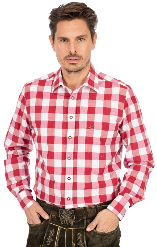 German traditional shirt AMBERG red