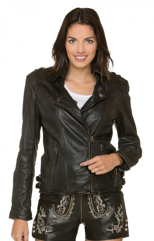 Trachtenlederjacke CRUZ black washed