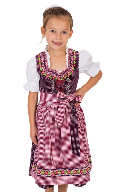 Traditional Children dirndl Modell BLANDA-KIDS plum