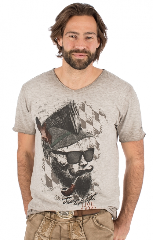 Trachten T-Shirt FRANZL beige