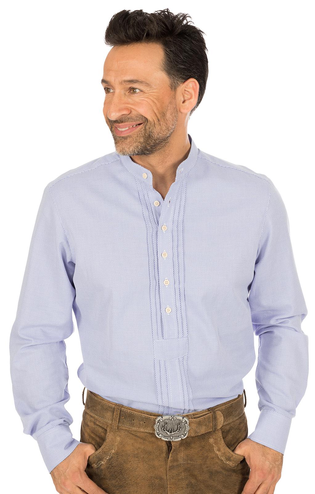 weitere Bilder von German traditional shirt Pfoad GRATANO blue