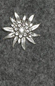 Trachten Schultertäschchen Filzoptik Edelweiss, grau