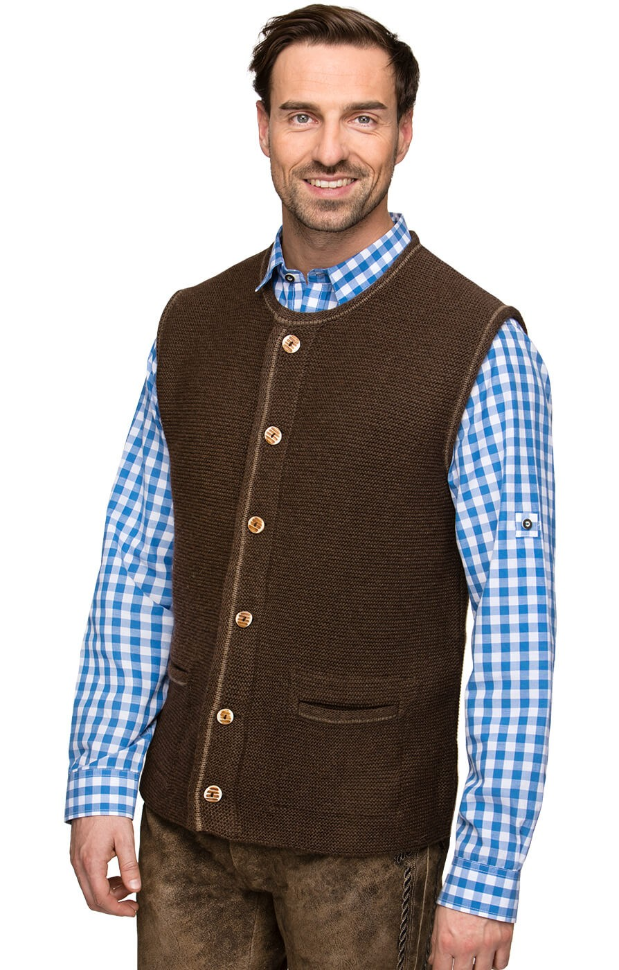 Stockerpoint Traditional Costume Vest Clooney Brown