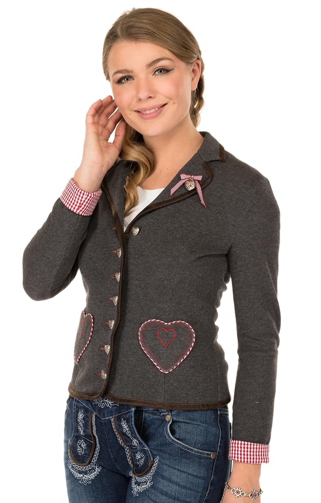 Traditional Jacket gray red von Marjo