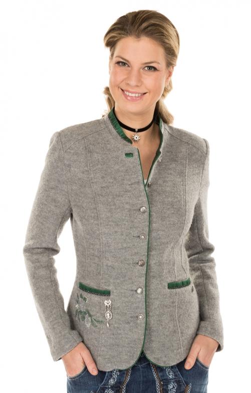 Trachten Jacket outside gray green