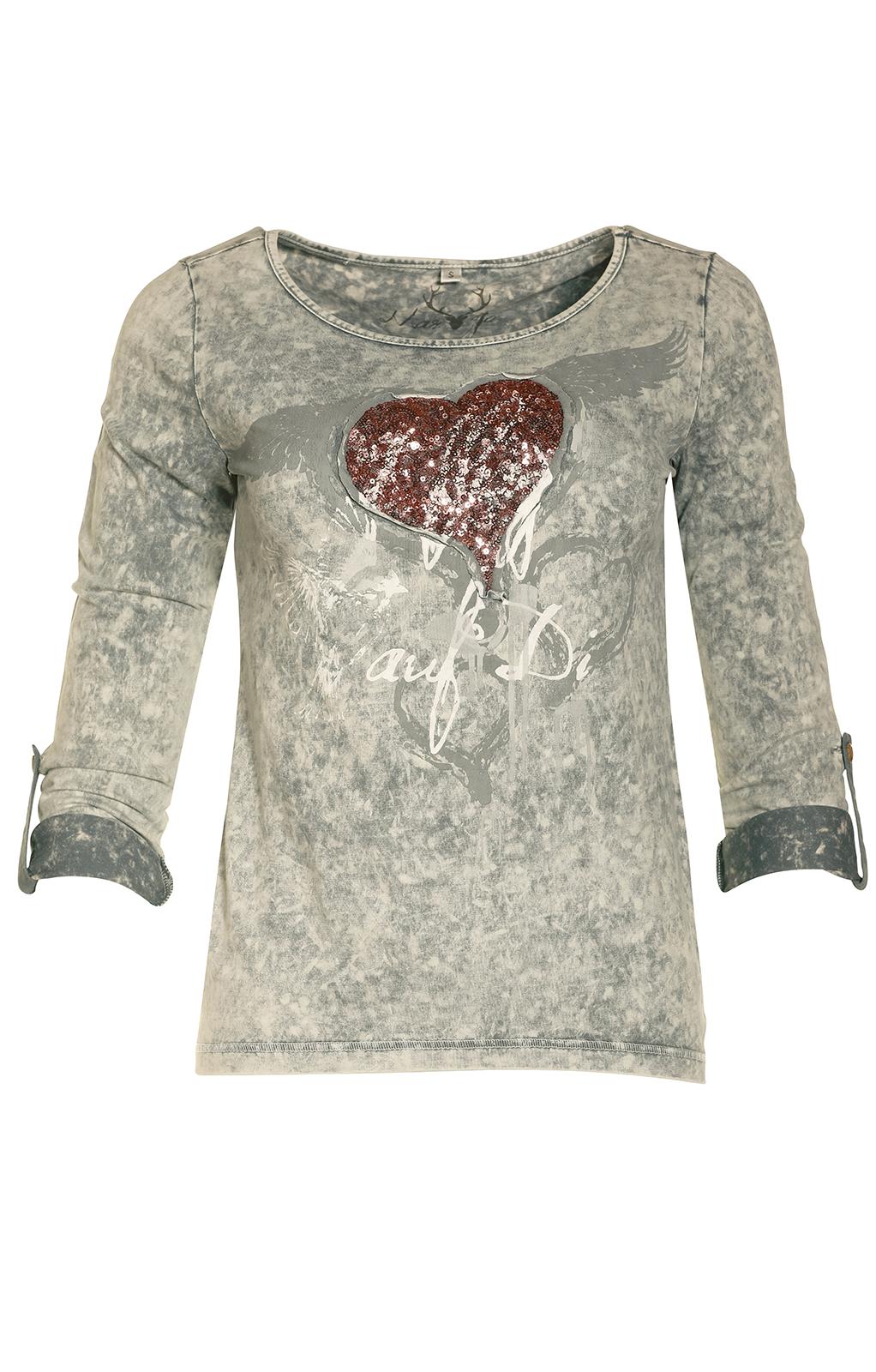 weitere Bilder von Trachten T-Shirt K30 FLIAGA asche