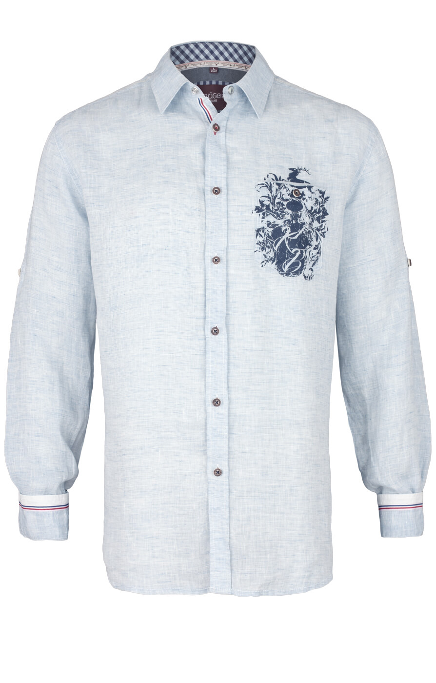 weitere Bilder von German traditional shirt 93105-81 lightblue