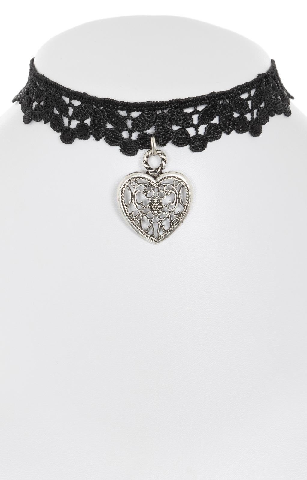Traditional necklace 1413-10 black von Krüger Dirndl