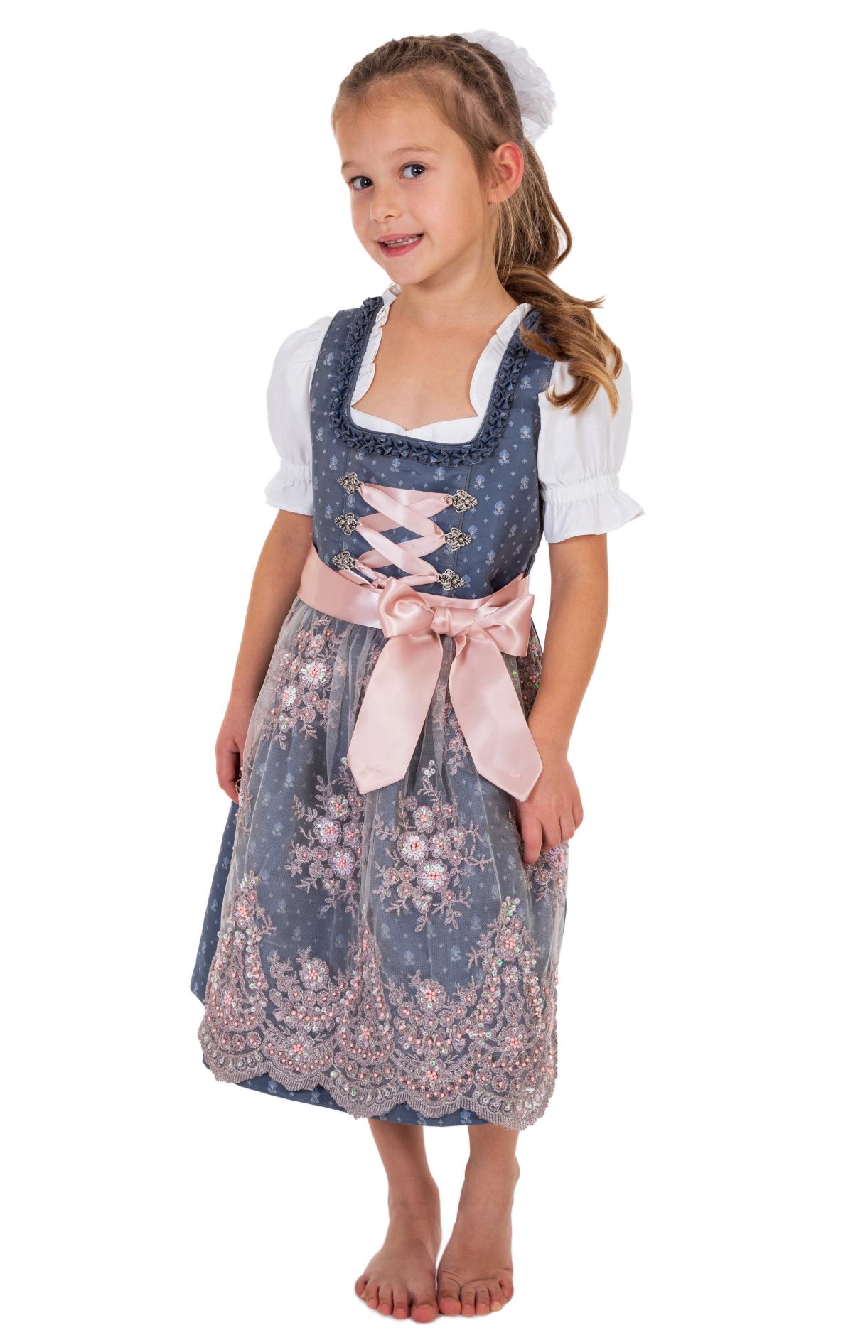 weitere Bilder von Traditional Children dirndl ABIA-KIDS taubenblue