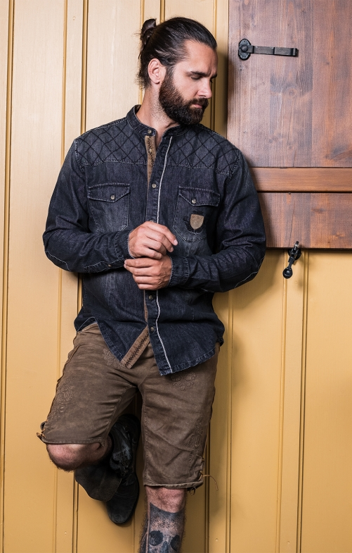 Langarmhemd CODY schwarz