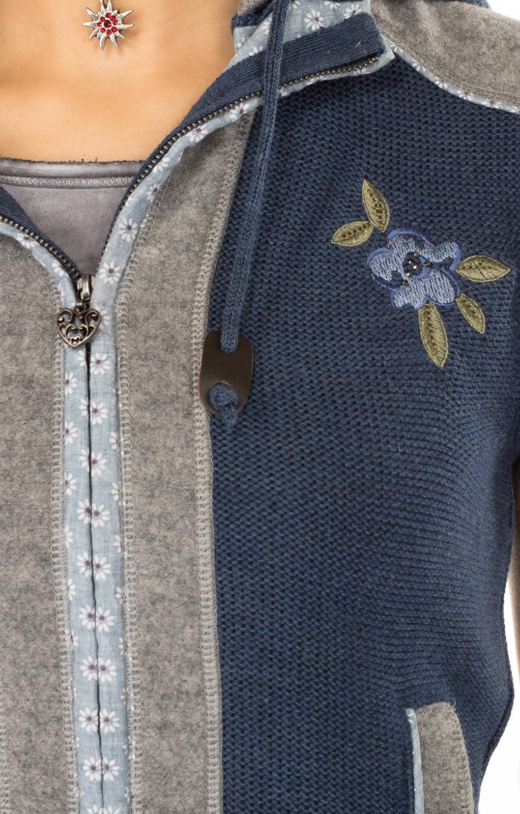 weitere Bilder von Trachtenstrickweste GRAIN jeansblau