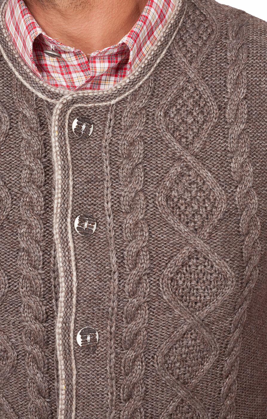 weitere Bilder von Trachten Strickweste ERMELO beige braun