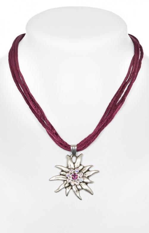 Halskette mit Edelweiss 9196-4 pflaume