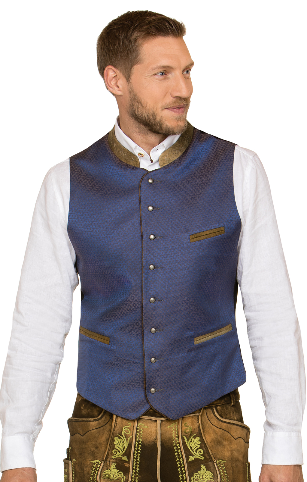 Traditional waistcoat Carlo blue von Stockerpoint