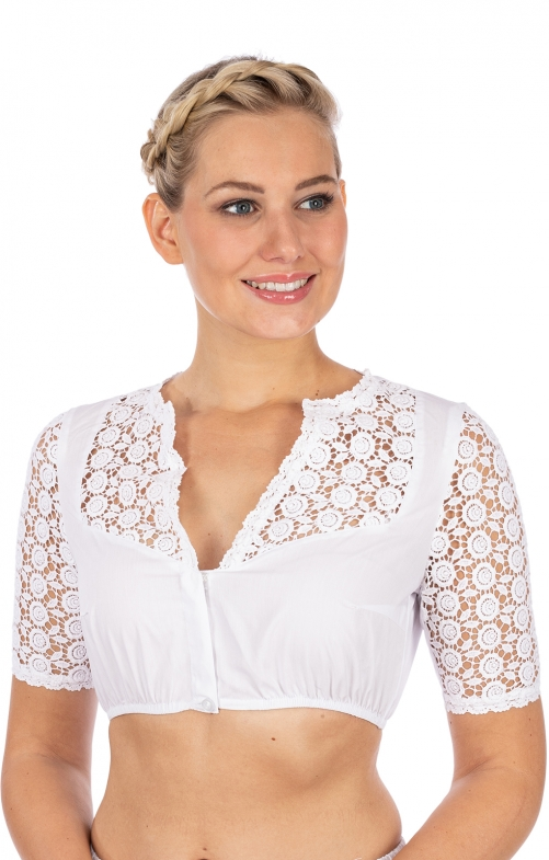 Traditional dirndl blouse 39140-1 white