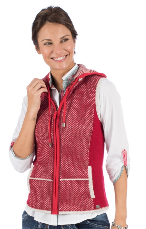 Knitted vest KULM SW red
