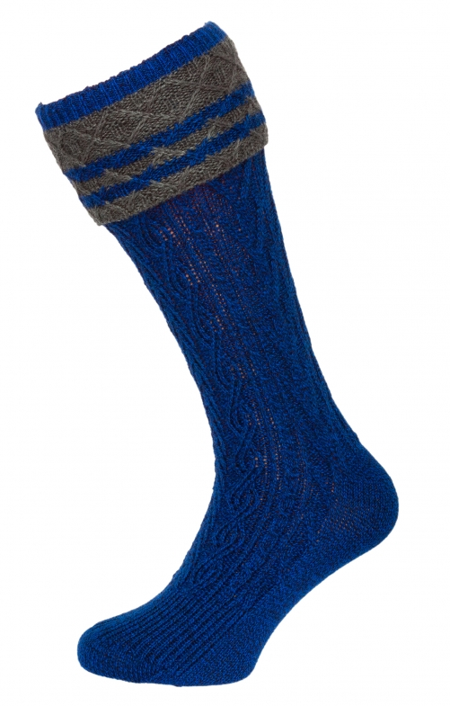 Traditional knee socks 54080 blue