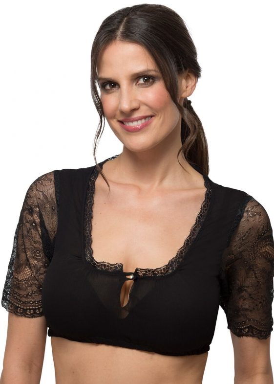 Traditional dirndl blouse HC4040 black
