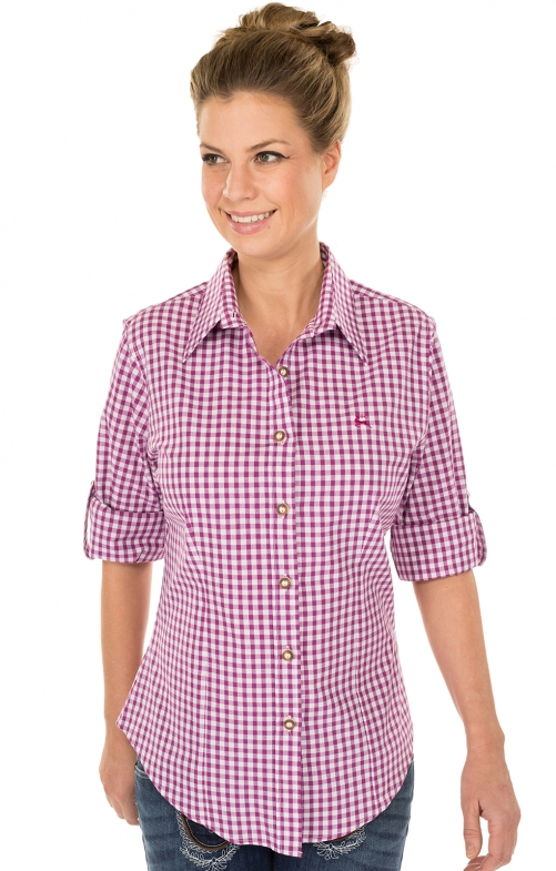 Traditional blouse CHECKERED berry