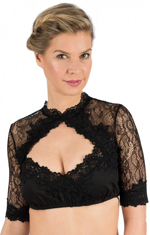 Traditional dirndl blouse PIPPA black