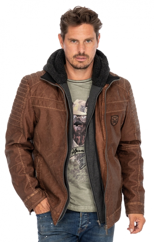 German traditional leather jacket LEOPOLD cognac